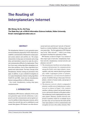 The Routing of Interplanetary Internet