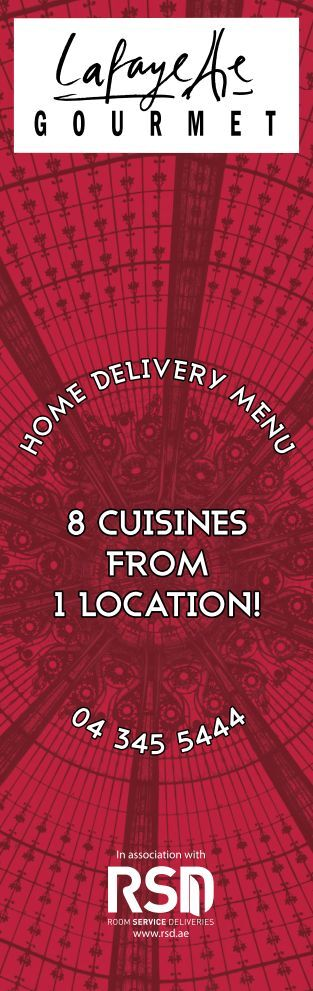 8 cuisines from !1 location h o m e delivery m en u 04 345 5444