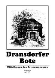 60/2011 - Ortsausschuss Bonn-Dransdorf
