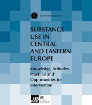 Substance use in Central and Eastern Europe - World Health ...
