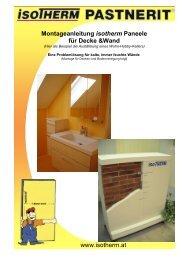 Montageanleitung isotherm Paneele für Decke &Wand www ...