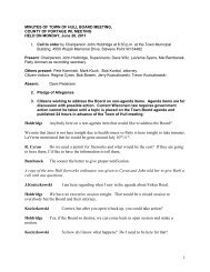 Board Minutes - June 20, 2011 - Town of Hull