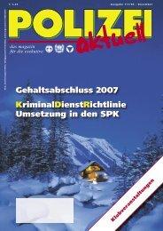 Gehaltsabschluss 2007 KriminalDienstRichtlinie Umsetzung ... - FSG