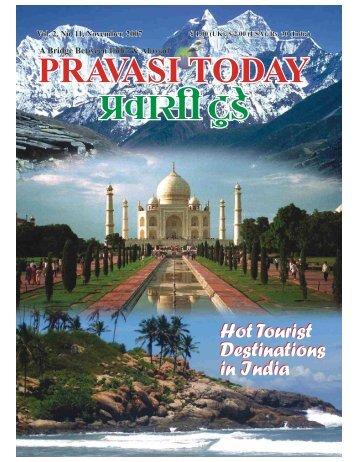 NOVEMBER 2007 E-Magazine - Pravasi Today