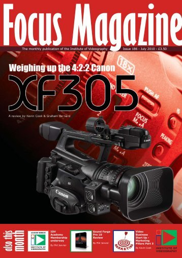 also this month - Institute of Videography