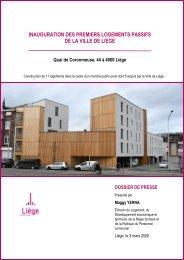Inauguration des premiers logements passifs à Coronmeuse