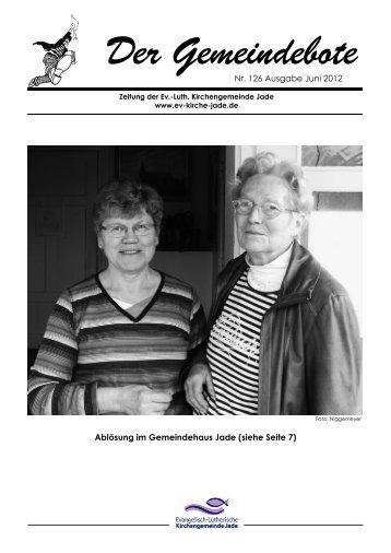 Achtung Jaderberger Gemeindeboten-Austräger! - Evangelisch ...