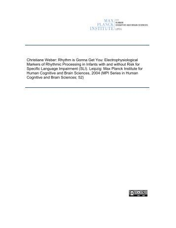 MPI Series in Human Cognitive and Brain Sciences - PubMan