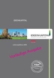 Vorläufige Ausgabe – IDEENKAPITAL Leistungsbilanz 2009