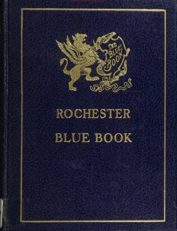Rochester Blue Book 1938 - Monroe County Library System