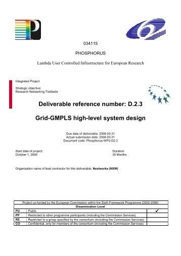 D.2.3 Grid-GMPLS high-level system design - Phosphorus