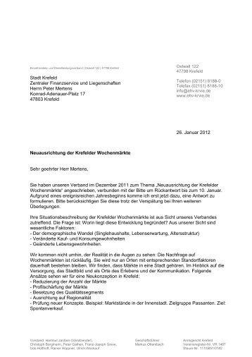26. Januar 2012 Stadt Krefeld Zentraler Finanzservice und ...