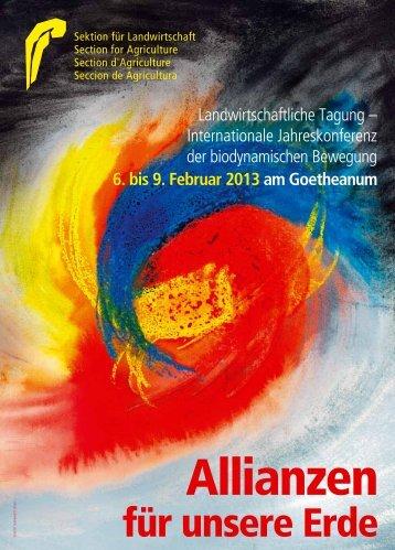 6. bis 9. Februar 2013 am Goetheanum - Sektion für Landwirtschaft ...