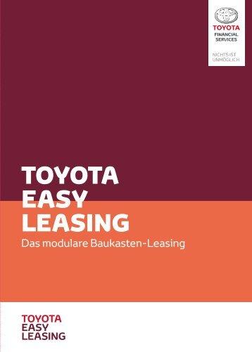 TOYOTA EASY LEASING - Das modulare Baukasten-Leasing