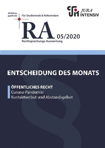 RA 05/2020 - Entscheidung des Monats