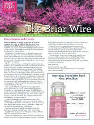The Briar Wire | Vol. 6, Issue 4 | May 2020