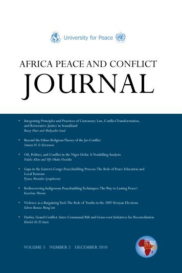 Africa Peace and Conflict Journal - The University for Peace