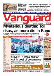 29042020 - Mysterious deaths: Toll rises, as more die in Kano