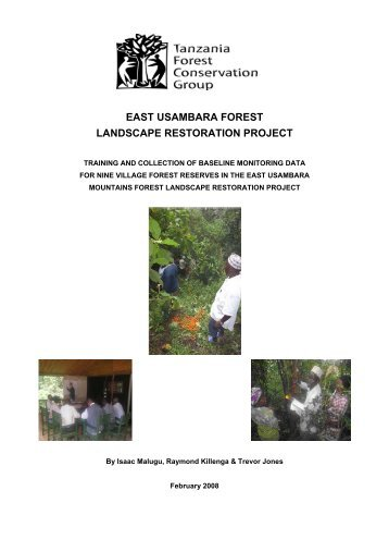 east usambara forest landscape restoration project - Tanzania ...