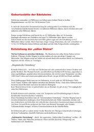 Der Weg der edlen Steine - Appel Juwelier e.K.