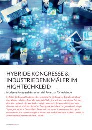 Hybride Kongresse & Industriedenkmäler im Hightechkleid