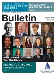 BAEC Spring 2020 Bulletin