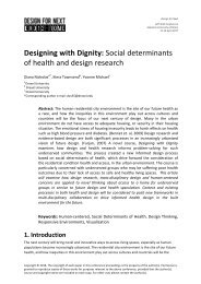 Designing with Dignity_ Social determinants of health and design research