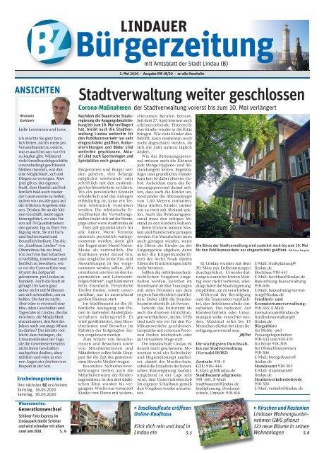 02.05.2020 Lindauer Bürgerzeitung