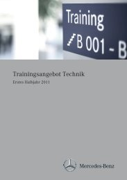 Trainingsangebot Technik - Mercedes Benz