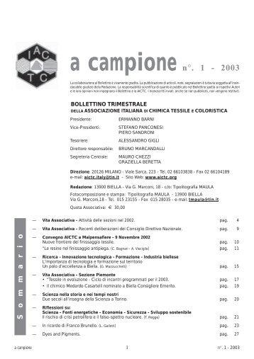 A CAMPIONE NR. 1 2003