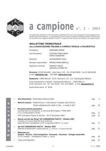 A CAMPIONE NR. 2 2003