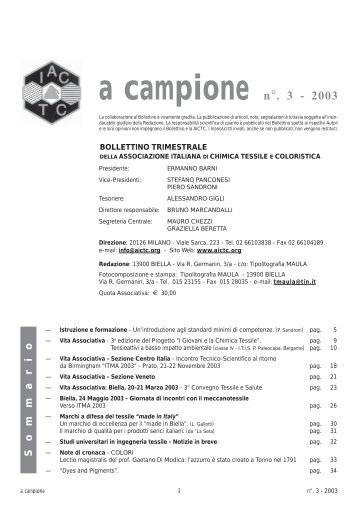 A CAMPIONE NR. 3 2003