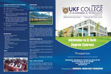 Promoted by - UKF College Of Engineering And Technology
