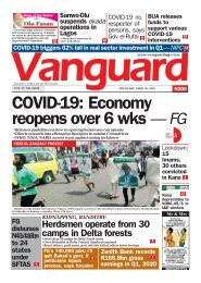 30042020 : COVID - 19 Economy reopens over 6 wks