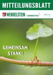 Mitteilungsblatt Wendelstein + Schwanstetten Mai 2020
