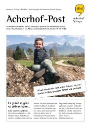 Acherhof-Post Nr. 6   1. Mai 2020