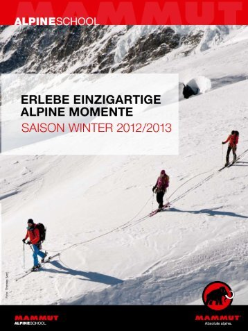 Mammut Winter Alpine School 2012 / 2013