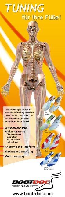 Anatomische Form Unterstützung des Quer- und ... - Boot Doc