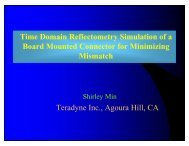 Presentation - Time Domain Reflectometry Simulation of a Board ...