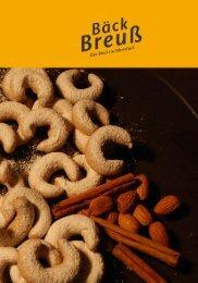 Bäck Breuß - Speisen und Getränkekarte