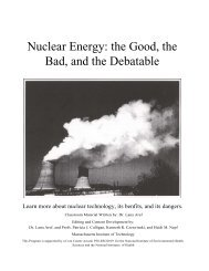 Nuclear Energy: the Good, the Bad, and the Debatable - Curriculum ...