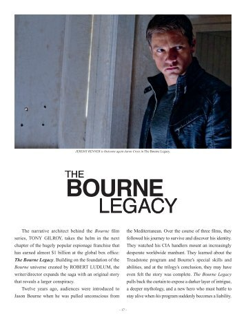 The Legacy Begins - The Bourne Legacy