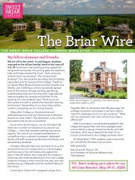 The Briar Wire | Vol. 5, Issue 8 | September 2019