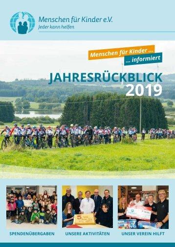 Jahresrückblick 2019 Menschen für Kinder e. V.