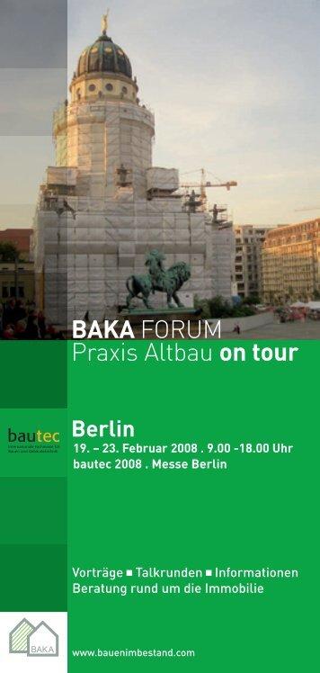 BAKA FORUM Praxis Altbau on tour - balck + partner