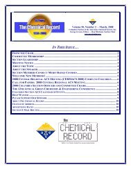 Chemical Record - Columbus Section - American Chemical Society