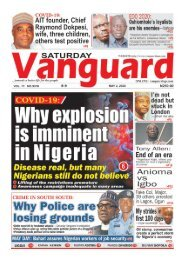 02052020 - COVID - 19 Why explosion is imminent in Nigeris