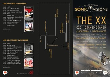 line-up: friday 23 november line-up: saturday 24 ... - Sonic Visions