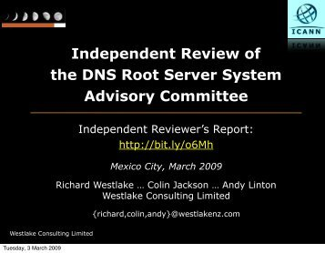 Independent Review of the DNS Root Server System - Mexico City ...