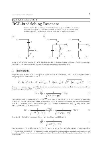 RCL-kredsløb og Resonans